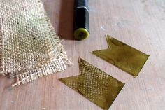 Use burlap to stamp with to create texture