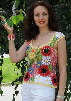 Duplet magazine crochet top inspiration freeform russian