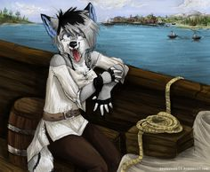 original character drew by Snowsnow11, featuring nice pirate scenery~