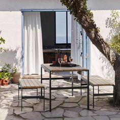 Contemporary Garden Furniture, Contemporary Design, Modern Design, Teak Table, Outdoor Furniture, Outdoor Decor, Furniture Ideas, Quality Furniture, Wood And Metal