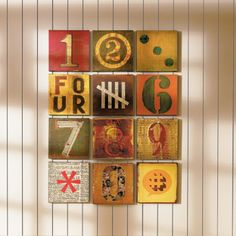 number canvases - school auction project (each kid does one canvas? keep color palette consistent) - DIY Craft's - Mydiddl School Auction Projects, Auction Ideas, Decoupage, Arts And Crafts, Diy Crafts, Frugal Family, Diy Wall Art, Wall Decor, Diy Artwork