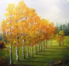 Artists Of Texas Contemporary Paintings and Art: Aspens in Denver  Barbara Havland Texas Contempora...