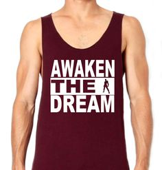 Will totally have to get one of these... Let's be motivated to be #Invincible <3 Awaken_the_Dream_Singlet_Burgundy_small