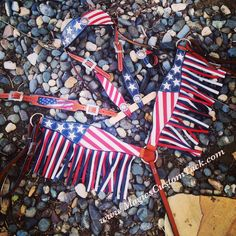 Magics Custom Tack Custom ordered American flag set with fringe and matching wither strap! Our original design!  Www.magicscustomtack.com Headstall breast collar rodeo barrel racing horses trail riding mounted shooting roping