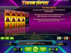 #Twin_Spin_slot from #webslotcasino. Enjoy it.