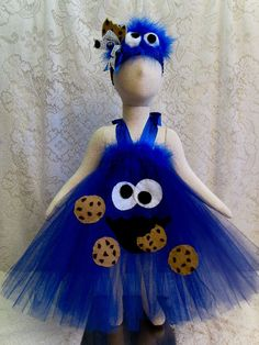 Fits 0  12 mo. Cookie Monster Tutu & Cookie Headband by cd1ofakind