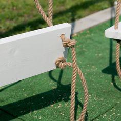 Huśtawka Ogrodowa (Nie Tylko dla Dziecka) - DIY - — HOUSE LOVES Garden Swing Seat, Backyard Swings, Fire Pit Patio, Pergola, Panel Walls, Diy, Outdoor, Coffee Cake, Gardening