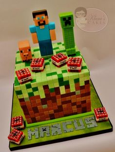 The Minecraft Cake - Grass Block - Cake by Klaras Cakes