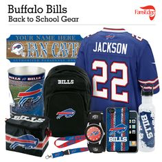 Buffalo Bills Fans - Pin It to Win It All! You can win a complete back to school NFL prize pack worth over 300 dollars! To enter, pin your favorite NFL Team's Back to School image to win every item in the collage! #FansEdge –Visit http://www.fansedge.com/promotions.aspx?social=pinterest_nfl_pintowin to enter
