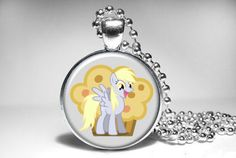 Derpy Hooves My Little Pony Friendship is Magic Pendant Necklace on Etsy, $10.99