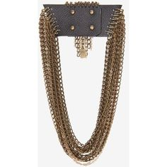 Jenny Bird Rawley Chain And Leather Collar