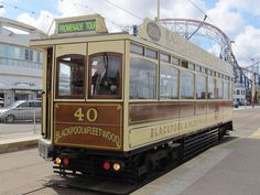blackpool old tram Blackpool England, London Transport, Light Rail, Old Pictures, Old Cars, Outdoor Activities, Seaside, Transportation, Around The Worlds
