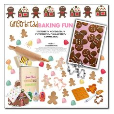 """Can't catch me I'm the gingerbread man!!"" by fashionlibra84 on Polyvore featuring interior, interiors, interior design, home, home decor, interior decorating, Jamie Oliver, Kitchen Craft, Kurt Adler and Georgetown Home and Garden"