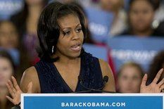 """First lady Michelle Obama said Friday that her husband, President Barack Obama, was not """"pointing fingers"""" and blaming an..."""