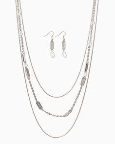 charming charlie | Cityscape Necklace Set | UPC: 410005158512 #charmingcharlie