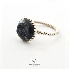 Drusy Agate Zig-Zag Ring Zig Zag, Agate, Gemstone Rings, Gemstones, Silver, Jewelry, Jewlery, Money, Bijoux