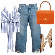 This outfit is SO chic for Mother's day (and any other day). We love these girlfriend style jeans, this top handle bag and these easy camel mules