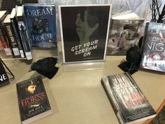 Check out the creepy cool book display in the McClain Library! 2017