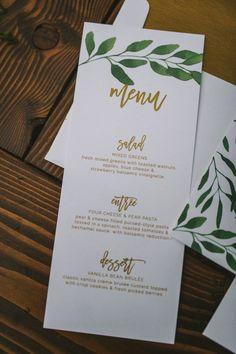 Elegant Bohemian Decor: Nature-inspired boho menu   Nhiya Kaye Photography...