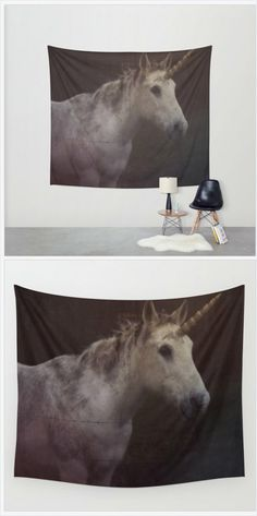 Unicorn Hanging Tapestry - Wall Tapestry - Unicorn Photography - Large Wall Photograph - Fantasy Wall Art - Home Decor - Made to Order https://www.etsy.com/listing/226331182/