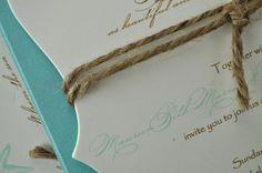 Wedding Invitation Beachy Starfish Wedding by trendytreasure, $3.25