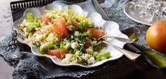 Wildreis-Salat mit Grapefruits und Bohnen