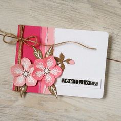 Handmade card by DT member Sanne with Collectables Eline's Helleboras (COL1394) from Marianne Design