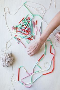 DIY Easy Summer Straw Necklace via Say Yes