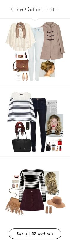 """""""Cute Outfits, Part II"""" by mere903 ❤ liked on Polyvore featuring The Bridge, Miu Miu, Topshop, H&M, NYX, Minor Obsessions, Finn, Jennifer Meyer Jewelry, Peggy Li and Christian Dior"""