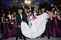 Need a wedding planner, www.weddings2plan.com African American Wedding Party Purple