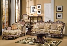 Luxury Traditional Living Room Furniture living room : alpine microfiber traditional living room sofa