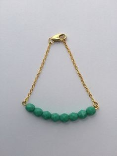 Turquoise Bead Bar Bracelet by FrantasticSparkle on Etsy