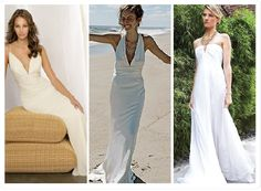destination wedding dresses-black white and sand...