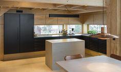 Naturligt køkken i Villa Moelven ejendom fra uno form   Case