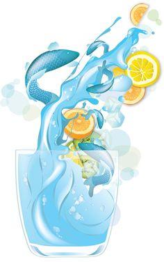 Draw Realistic Liquids in Vector Art, #Drawings, #Illustration, #Illustrator, #Tutorial, #Vector
