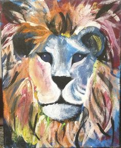 ADPi Big Little Crafts! Colorful Lion Painting