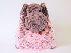Hippo Backpack - Allcrochetpatterns.net