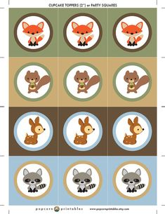 ★ INSTANT DOWNLOAD! ★ Woodland animal party package: https://www.etsy.com/listing/184420495/woodland-animal-printable-party-package?ref=shop_home_active_11 See more à la carte printables here: