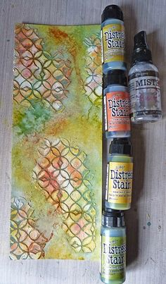 Art journal inspiration. Love the colors and texture! she gives step by step instructions!
