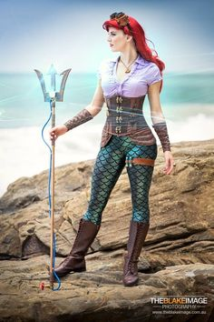 Steampunk Ariel -would've done the hair differently but otherwise this looks awesome!