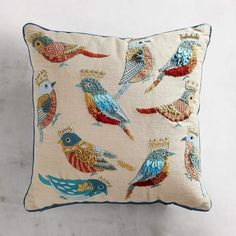 Pier 1 Imports Birds with Crowns Pillow #affiliatelink