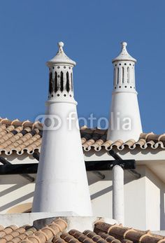 Traditional Portuguese chimney. Lagos, Algarve Portugal