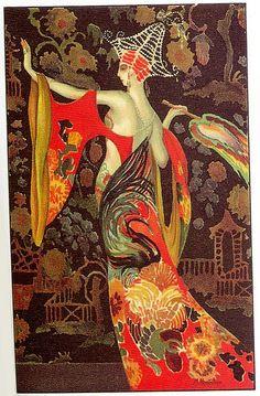 M. Montedoro, Art Deco postcard, 1920s