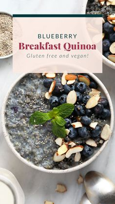 This quinoa breakfast bowl is creamy, flavor-packed. and perfect for meal prep for the week!