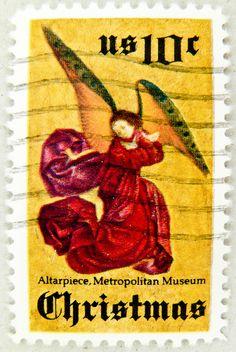 Angel US Christmas Stamp