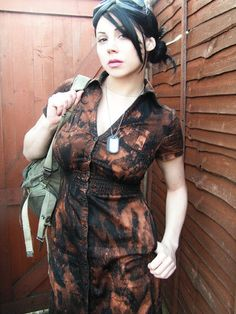 Dress Steampunk Zombie Post Apocalyptic by AnansiTheSpider, $35.00