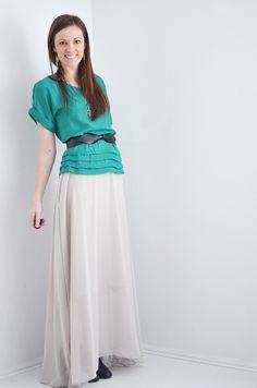 How to sew a chiffon maxiskirt by melissa esplin from ISLY