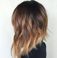 short balayage hairstyle
