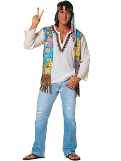 Check out Hippie Dude Adult Costume - Wholesale 60s Mens Costumes from Wholesale Halloween Costumes