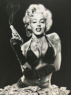 Marilyn Monroe Tattoo, Marilyn Monroe Kunst, Marilyn Monroe Wallpaper, Marilyn Monroe Drawing, Marilyn Monroe Photos, Zeichnung Marilyn Monroe, Rocknroll, Gangster Girl, Norma Jeane